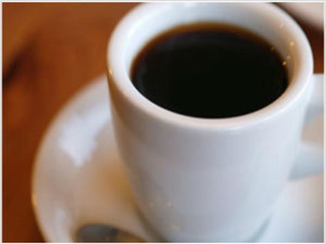 無料サービス:ウェルカムドリンクのコーヒーサービス