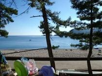 海側のお部屋からの景色。(一例)