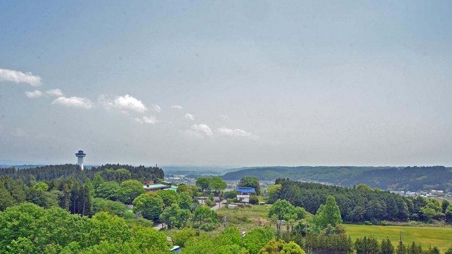 【当宿の景観】展望室からの風景(八溝山地方面)
