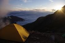 唐松岳テント泊