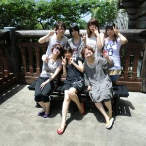 グループで写真