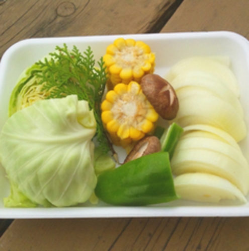 BBQセットの野菜