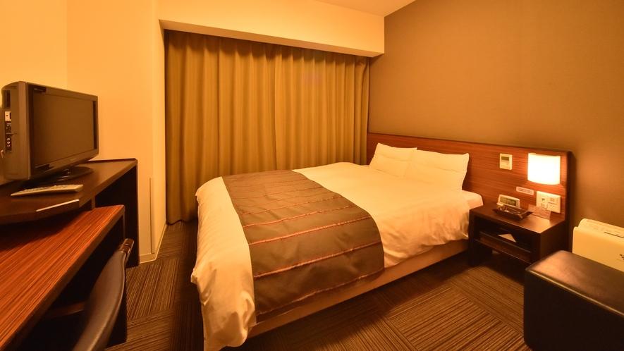 ◆ダブルルーム15平米:ベッドサイズ1400×1950:定員大人1名~2名まで