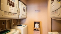 【ランドリーコーナー】2階大浴場に御座います。(洗濯機、洗剤無料、乾燥機のみ20分100円)
