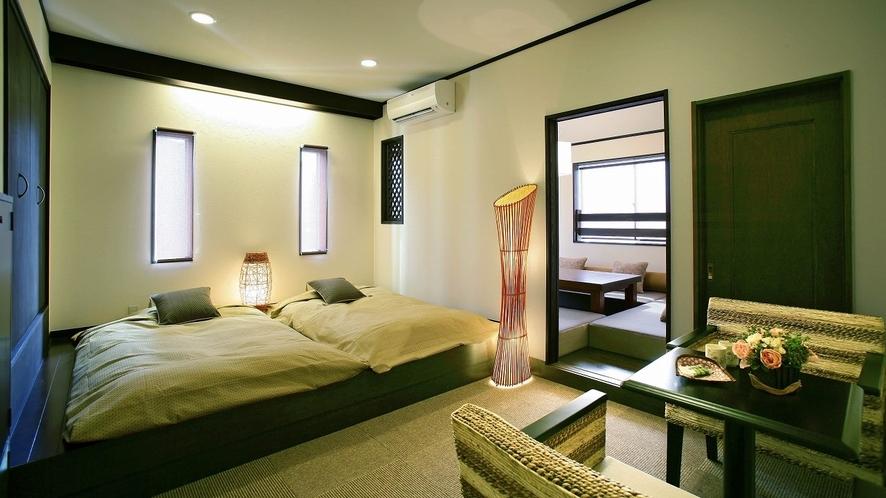 【和洋室】ベッドルームと和室ルームの二間続きの客室となっております。