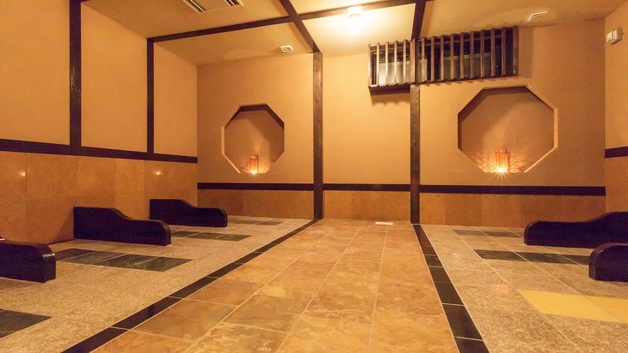 *併設の日帰り温泉「星音の湯」内の岩盤浴エリアです。