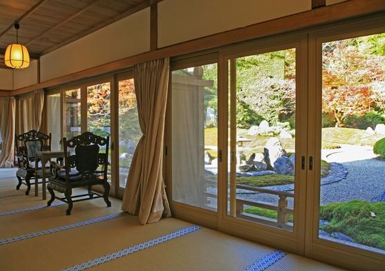 【夏秋旅セール】【デラックス】◆特別室確約◆1千坪の庭園に隣接する―「方丈の間」で過ごす1日―