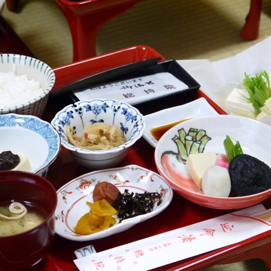 【朝食付】◆手作り胡麻豆腐付◆精進料理をいただく朝食付プラン