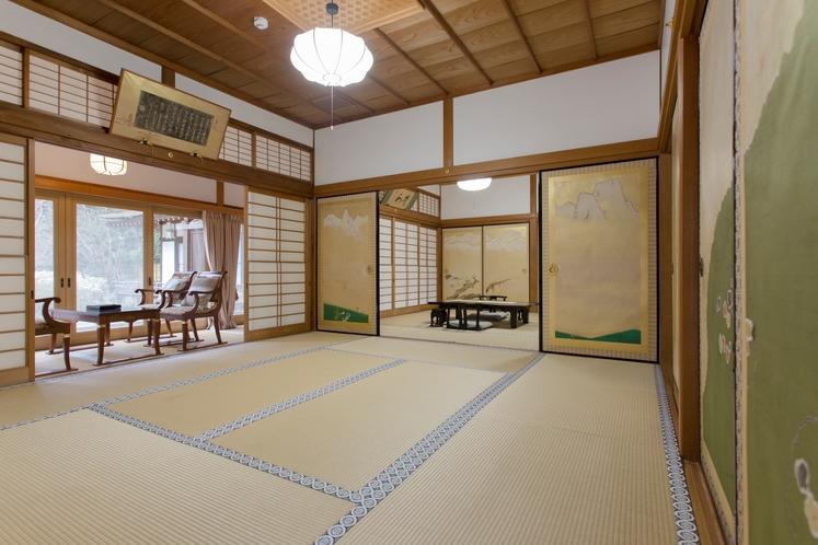 特別室 方丈の間 10畳+8畳+テラス トイレ内風呂付き