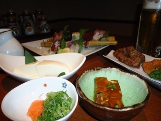【お刺身付の限定晩酌セット☆】朝食付♪※刺身はふく刺し、盛り合せのいずれか1つを選択してください。