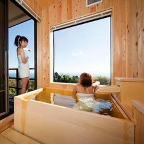 開放感ある露天風呂