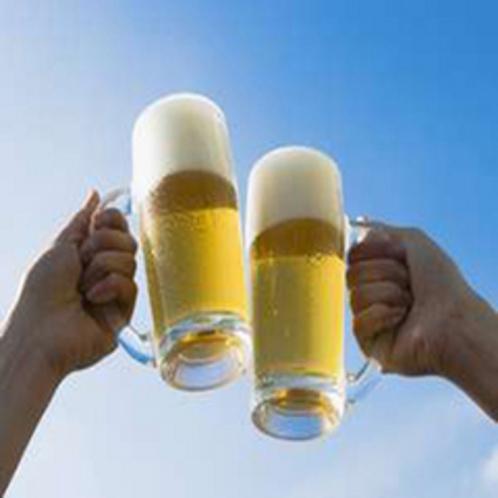 生ビールで乾杯♪