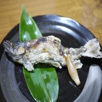 川魚の塩焼き(夕食一例)