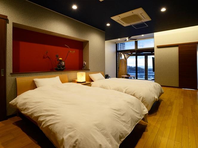 【特別室 風光の間 《雲》kumo】〈1日1組様限定〉シモンズ製ベッドは寝心地抜群。
