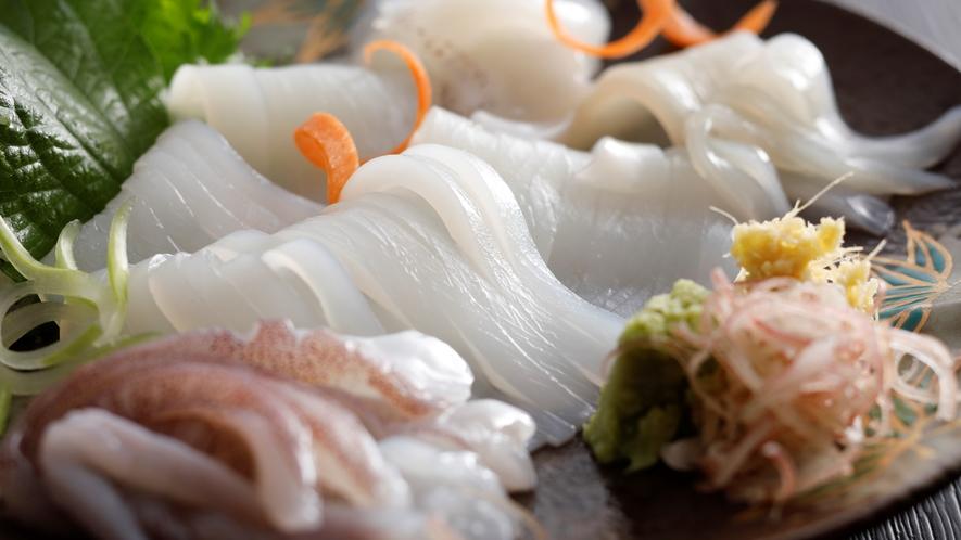 【白いか】透明で、コリコリした食感を味わう逸品!