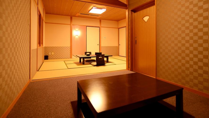 【2F~3F・和室】広縁付き展望風呂付客室:日本海を望む和室