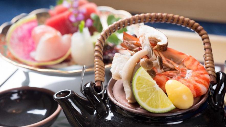 福島の四季の贅をじっくり味わう創作ディナー例