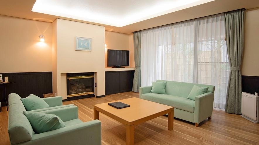 【青磁-SEIJI-】広々とした客室と天然温泉が楽しめる石造りの内風呂付き