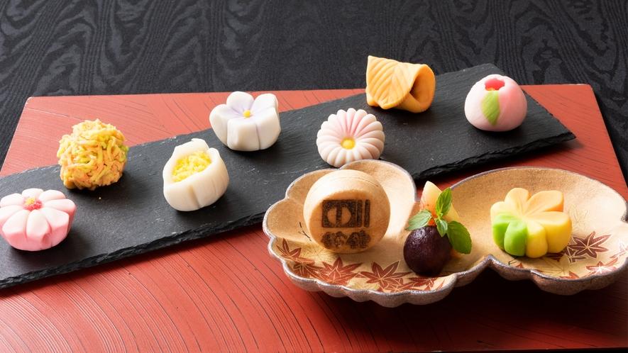 上生菓子と最中あいす
