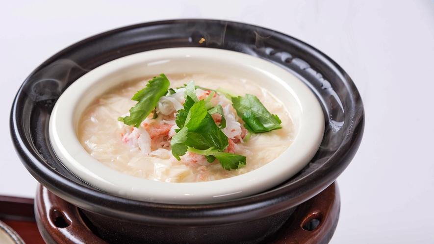 【朝ごはんフェスティバル入賞メニュー】生湯葉と旬の魚介の朝粥