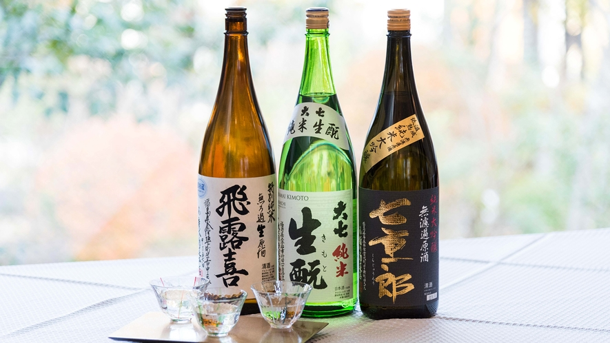 福島の美味しいお酒をたくさんご用意しております。