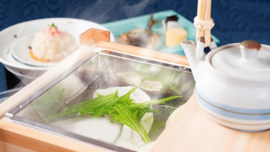 自慢の朝ごはんーあったか出来立て湯豆腐ー