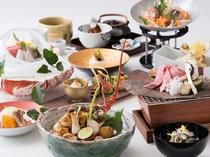 夕食 東北大会優勝の料理長がこだわって厳選した旬の素材をふんだんに使用した「贅沢会席料理」