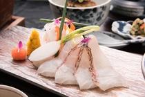 夕食 活〆真鯛のしゃぶしゃぶ