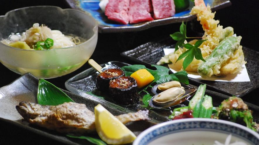 *【ご夕食一例】恵まれた豊富な食材を使用した会席コースをご堪能ください。
