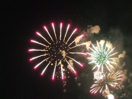 諏訪湖の花火大会を見てからチェックイン(素泊り)