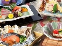 2018秋《華》秋鮭の味噌ホイル焼き、木の子葛豆腐など