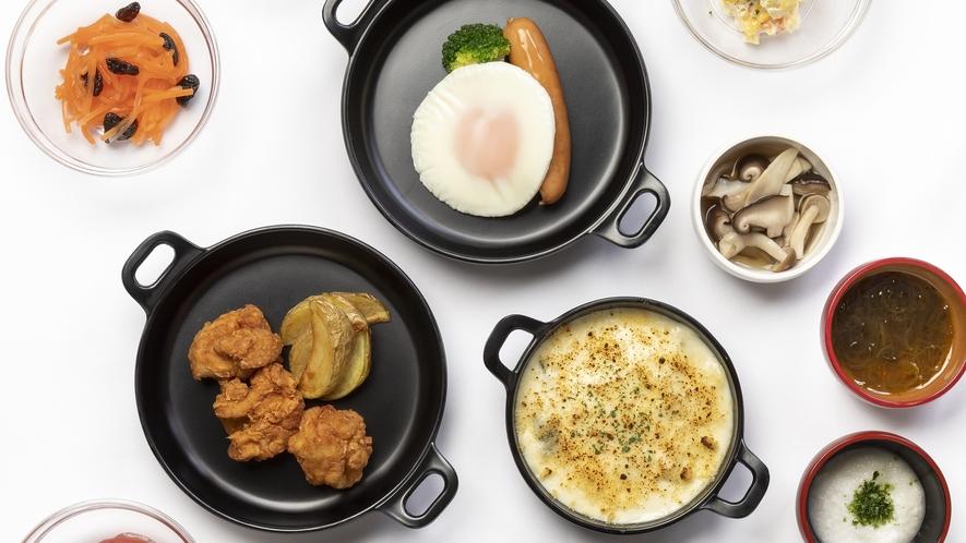 ◆朝食 鶏唐揚げ・ポテト・グラタン◆