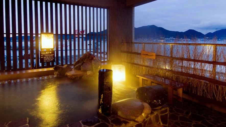 ◆《男性》露天風呂(湯温41~42℃)関門海峡が一望できます!行き交う船舶を眺めながらお寛ぎ下さい!