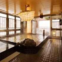 最上階大浴場【関門の湯】男性内湯◆営業時間15:00~翌10:00◆