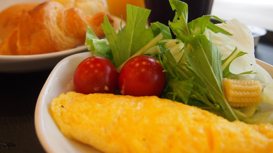 ◆朝食(1Fレストラン 営業時間6:30~最終入店9:00)オムレツはオーダー制でおつくりしてます!