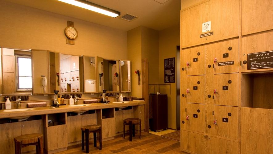 ◆《女性》大浴場脱衣場 ロッカー数:21個