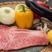 夕食(飛騨牛イメージ) ※季節や仕入れ状況によりメニューは変動します。
