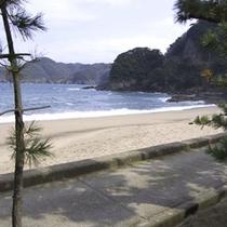 手入れの行き届いた白い砂浜