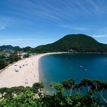 夏の佐津海岸は海水浴に最適!