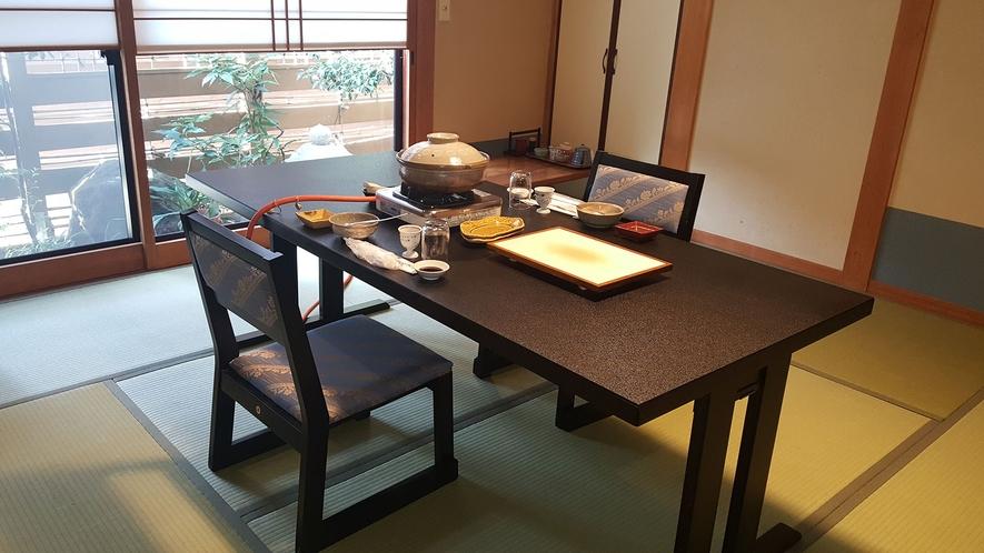 個室テーブル席一例