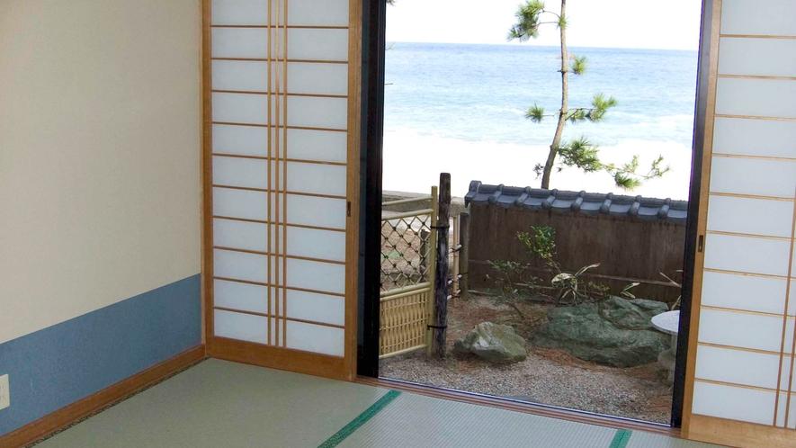 窓を開ければ、雄大な日本海!