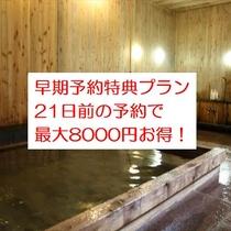 【さき楽21】21日前のご予約で最大8000円お得に!1泊2食早期割引スタンダードプラン