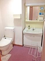 洗面所+ウォシュレット付トイレ