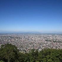 藻岩山展望台から見る札幌市内