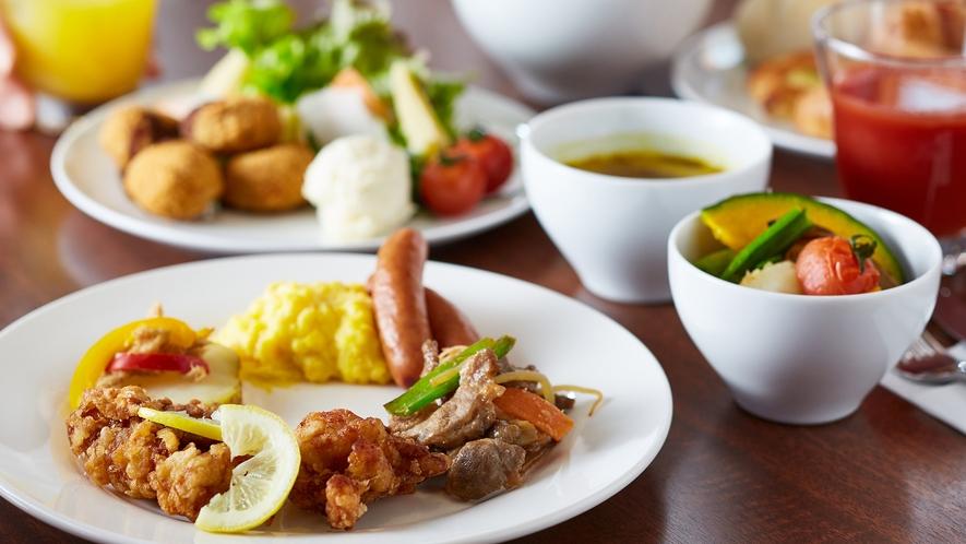 北海道産食材を中心とした和洋朝食ビュッフェ