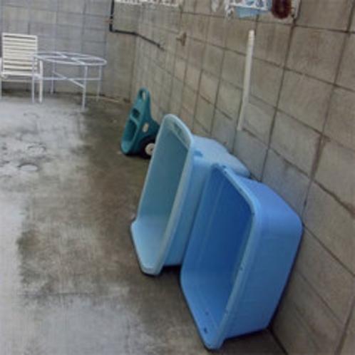 *ダイビング機材の洗い場もございます。