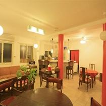 *施設併設のカフェ「茶びら」で流れている、ラテン・ジャズ・ボサノヴァが心地よいです。