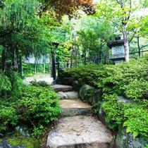 門をくぐると雰囲気漂う庭を眺めながら、お進みください