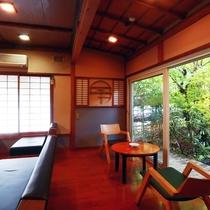 【ティーラウンジ】温石庵ではコーヒーやお抹茶などをお楽しみ頂けます