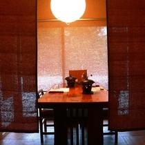 【食事処】お食事は個室もしくは個別ブースでご用意致します